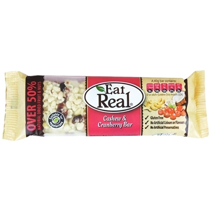 Picture of EAT REAL CASHEW AND CRANBERRY BAR 40 GM