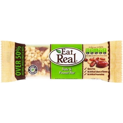 Picture of EAT REAL DATE AND PEANUT BAR 40 GM