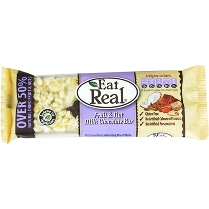 Picture of EAT REAL FRUIT & NUT MILK CHOCOLATE BAR 40 GM