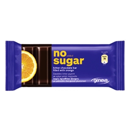Picture of NO SUGAR BITTER CHOCOLATE WITH ORANGE 32 GM
