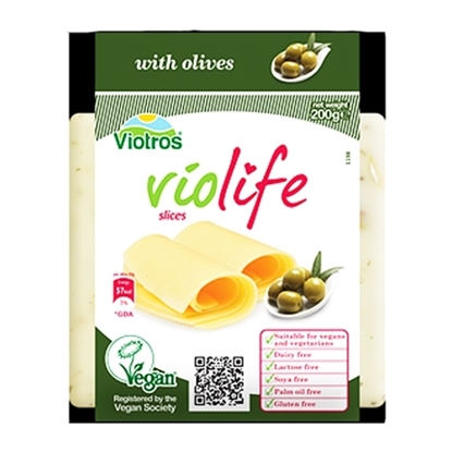 Picture of VIOLIFE DAIRY FREE WITH OLIVES SLICES 200 GM