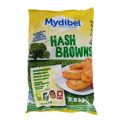 Picture of Mydibel Frozen French Fries Trangle Has Browins  ( 4 Pieces * 2500 GM )