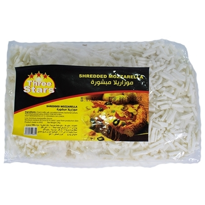 Picture of Green Land Cheese Mozzarella Shredded Three Stars ( 4 Pieces * 2000 GM )