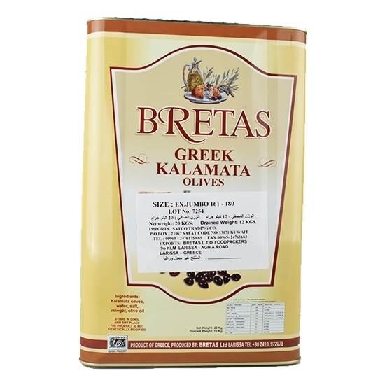 Picture of Kalis Kalamata Olives Extra Jumbo ( 1 Piece *  12 KG   )