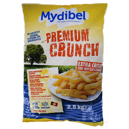 Picture of Mydibel Frozen French Fries Premum Crunch-10X10-A -18M FUM (120)-( 4 Pieces * 2500 GM )
