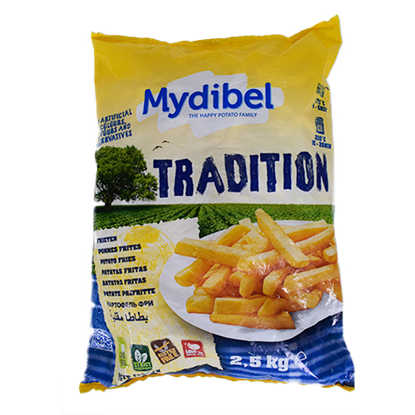 Picture of Mydibel Frozen French Fries -14x14 A- 18M -FUN(120)- ( 4 Pieces * 2500 GM )