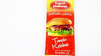الصورة: Khaburah Plain Tomato Ketchup Sachet (9 GM * 1000 Pieces )