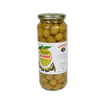 Picture of Almas Green Olives Pimento Stuffed  ( 12 Jar * 595 GM )