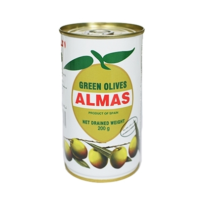 Picture of Almas Green Olives  ( 24 Cans * 200 GM )