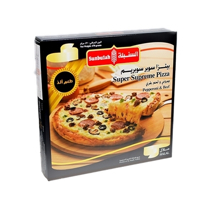 Picture of Sunbulah Small Supreme Pizza ( 12 Box  * 470 GM )