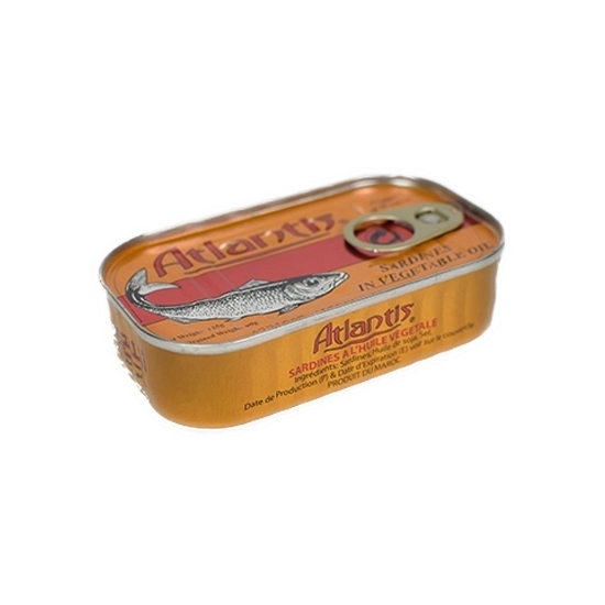 Picture of Atlantis Canned Sardines In Vegetable Oil ( 50 Cans  * 125 GM )