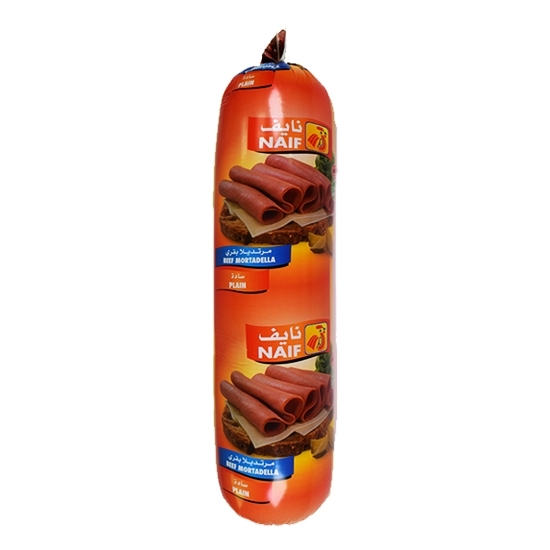 Picture of Naif Plain Beef Mortadella Roll ( 3 KG * 1 Roll )