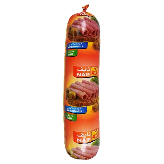 Picture of Naif Beef Mortadella with Olives Roll ( 3 KG * 1 Roll )