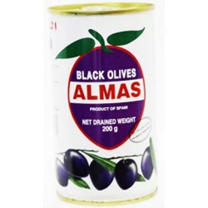 Picture of Almas Black Olives ( 24 Cans * 200 GM )