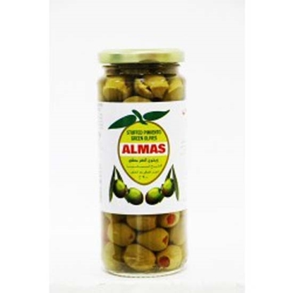 Picture of Almas Green Olives Pimento Stuffed  ( 12 Jar * 200 GM )