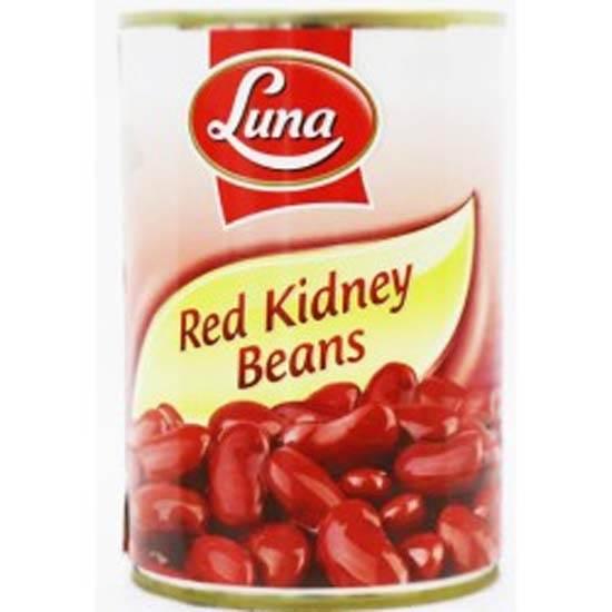 صورة فاصولياء حمراء لونا  ( 400 جم * 24 علبة )