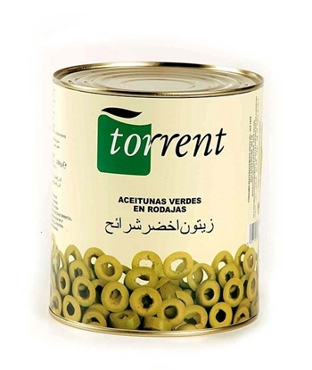 Picture of Torrent Green Olives Slices ( 3 KG * 6 Can )