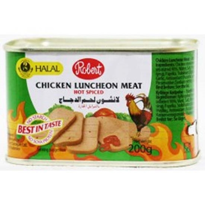 Picture of Robert Chicken Luncheon Meat Spicy ( 48 Cans * 200 GM )