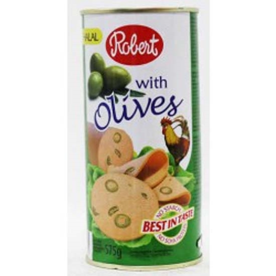 Picture of Robert Chicken Luncheon Meat With Green Olives  ( 8 Cans * 575 GM )