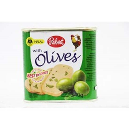 Picture of Robert Chicken Luncheon Meat With Green Olives ( 24 Cans * 340 GM )