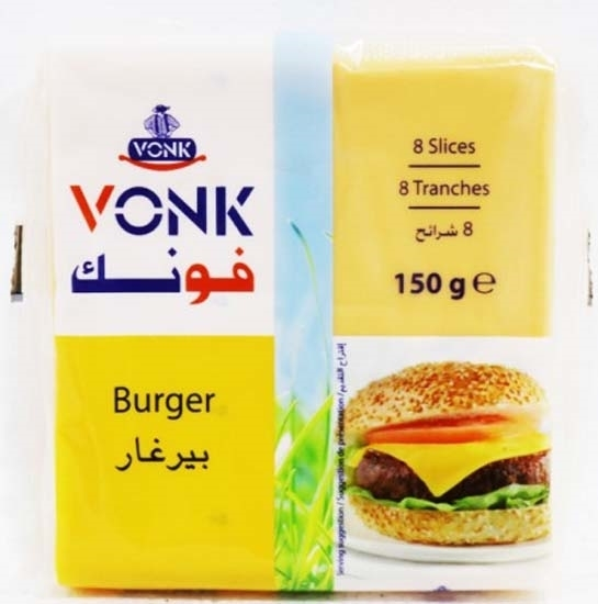Picture of Vonk Cheese Burger Slices ( 40 Pieces * 150 GM )
