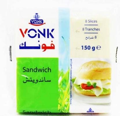 Picture of  Vonk Cheese Sandwich Slices ( 40 Pieces * 150 GM )
