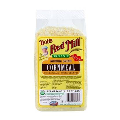 Picture of BRM Organic Cornmeal Flour  Medium 24 OZS