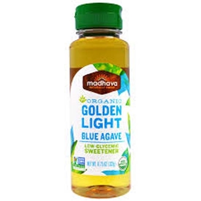 Picture of Madhava Organic Golden Light Agave  Nectar 11.75oz*6