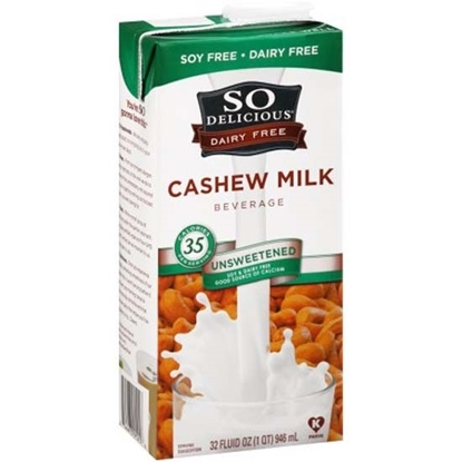 الصورة: So Delicious Cashew Milk Unsweetened (946 ML X 6)