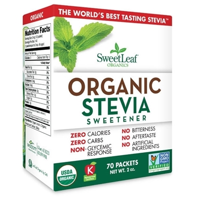 Picture of Sweet Leaf Stevia Organic 70 Ct 2oz*12