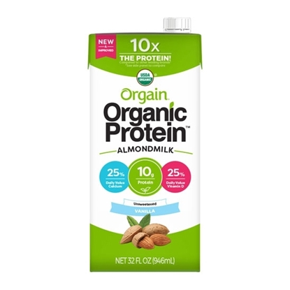 Picture of Orgain Organic Almond Milk Vanilla Unsweetened 32 Oz *6