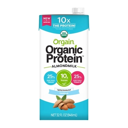 Picture of Orgain Organic Almond Milk Vanilla Lightly Sweet 32 Oz*6