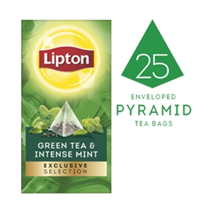 Picture of Lipton Green Tea & Intense Mint (6x25 pyramid tea bags)