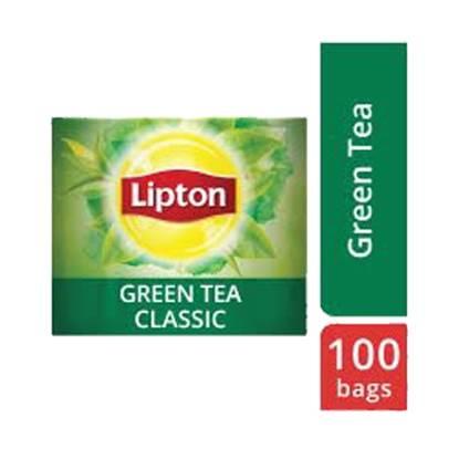 الصورة: ليبتون شاي أخضر ١٢ × ١٠٠ باكيت شاي