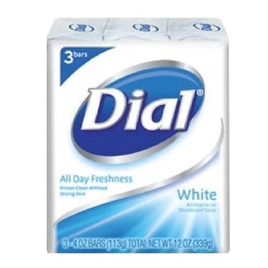 صورة دايل-صابون قطع -  أبيض - 113جم*3