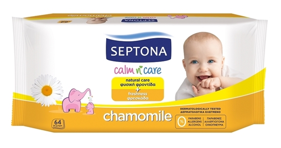 Picture of Septona Baby Wipes Chamomile 64's