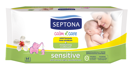 Picture of Septona Baby Wipes Sensitive 64's