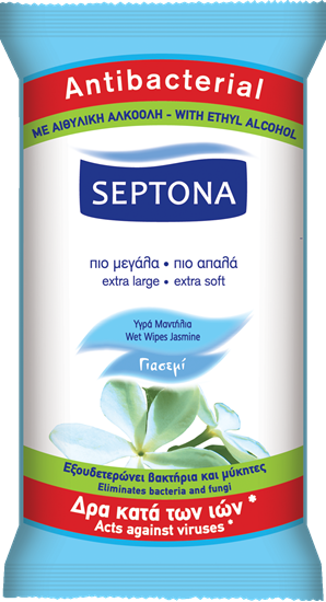 Picture of Septona Refreshing Wet Wipes Jasmine 15's
