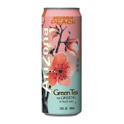 Picture of Arizona Green Tea With Ginseng&Peach Juice 680ml
