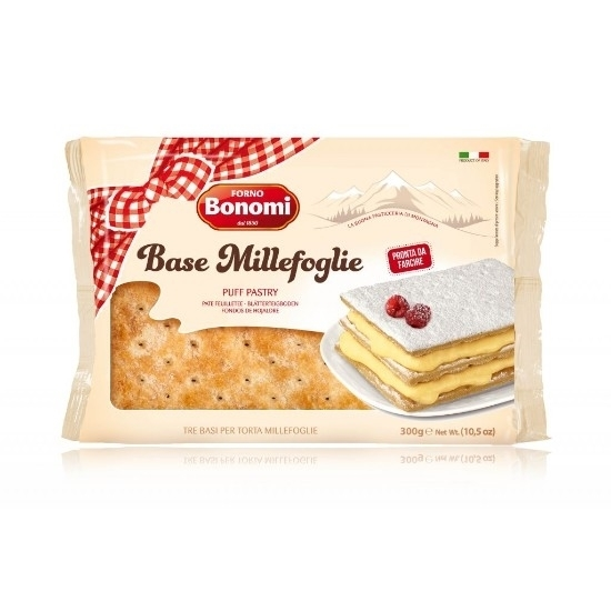 Picture of Bonomi  Ruff Pastry layers sugar topped 300g