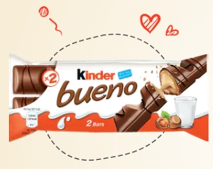 Picture of Kinder Chocolate Bueno 43 gm