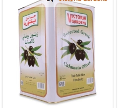 Picture of Victoria Gardens Calamata Olives Jumbo 181/200- 12 KG