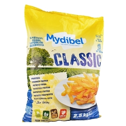 Picture of Mydibel Frozen French Fries 11/11 -A-  FUN (120)-( 4 Pieces * 2500 GM )