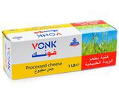 Picture of Vonk Processed Chesse Low Fat  20%  ( 16 Pieces * 100 GM )