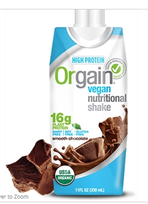 Picture of Orgain Vegan Nutritional Shake smooth Chocolate ( 330 ML x 12)