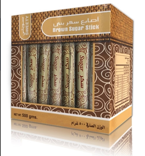 Picture of Sweety Sugar Brown Stick  Wrapped ( 500 GM * 24 Box )