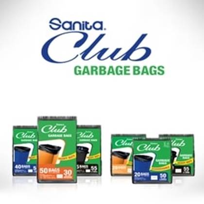Picture for category Garbage BAG 55G Sanita CLUB PACK 10X15