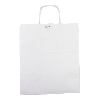 Picture of Paper Bag WHT PLAIN 34X29X20 300 BAGS