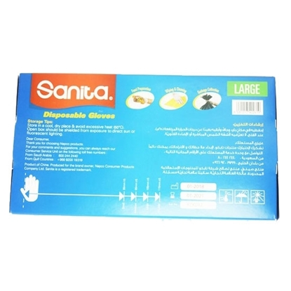Picture of Sanita Gloves VINYL NON POWDER L 10X100