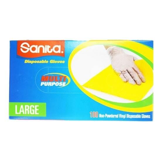 Picture of Sanita Gloves VINYL NON POWDER L 10X100